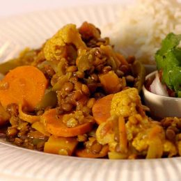 Vegetable Curry with Lentils
