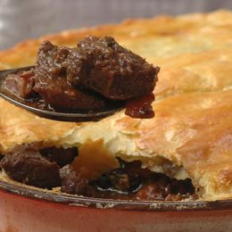 Venison Pie with Port and Prunes