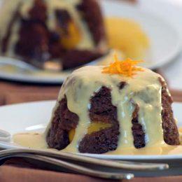 Warm Chocolate and Orange Pudding