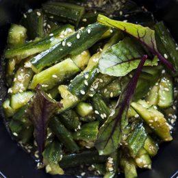 Crushed Cucumber Salad