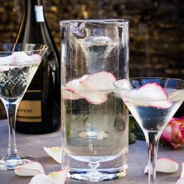 Prosecco Punch with Rose Petals