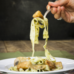 Mushroom Chicken with Pasta