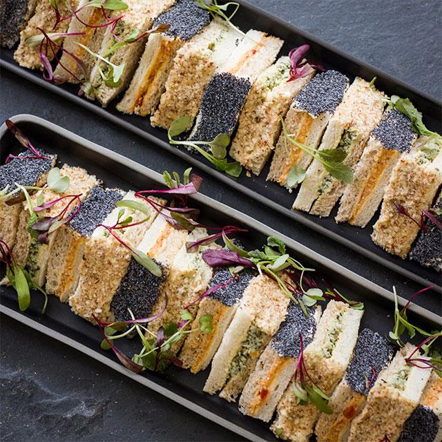 Triangular Sandwich Platter