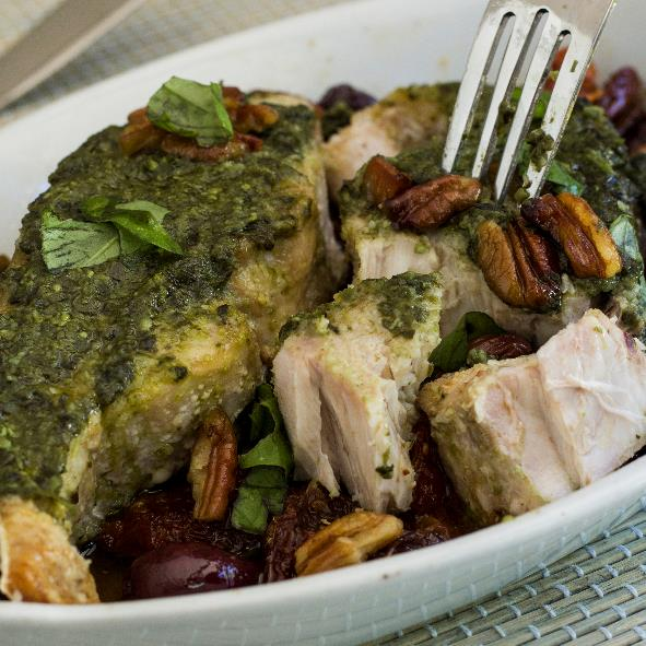 Fish with Pesto Topping