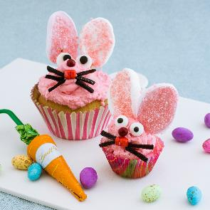 How to make easter bunny cupcakes
