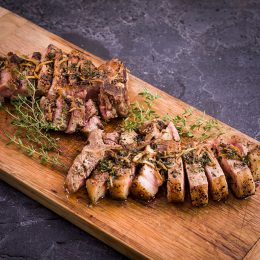 Pork Chops with Thyme Butter Sauce
