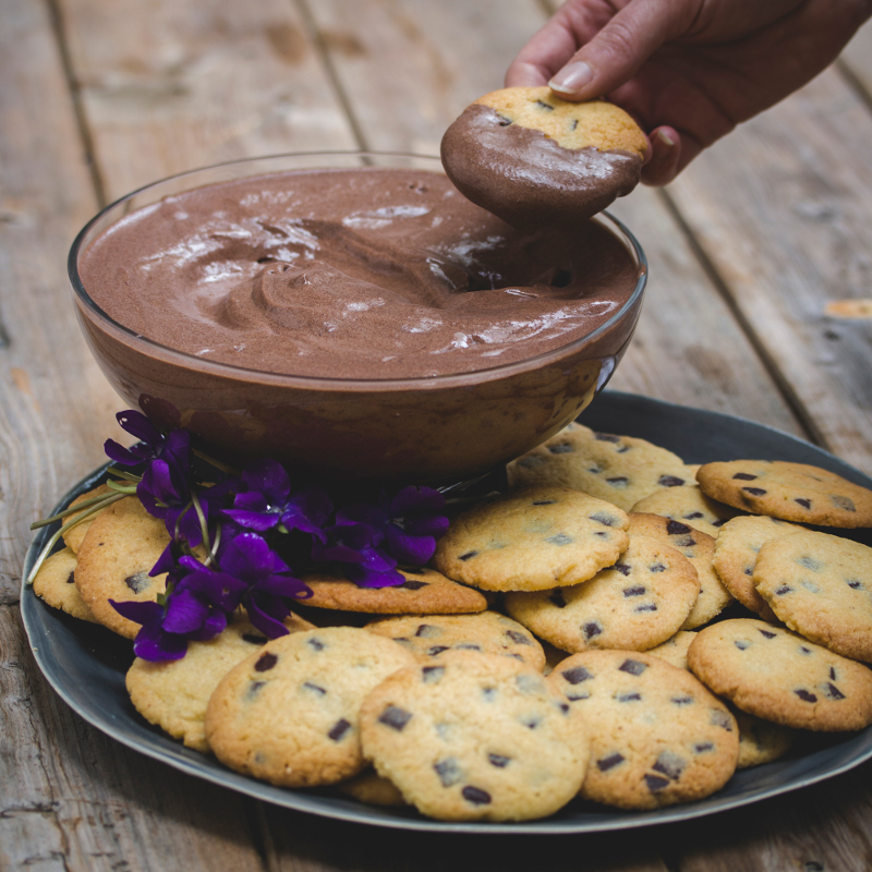 Chocolate Mousse Cookie Scoop