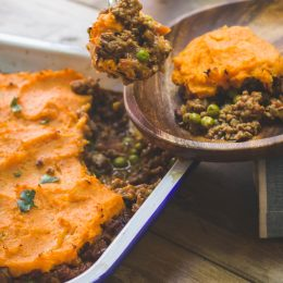 Cottage Pie with Sweet Potato Topping
