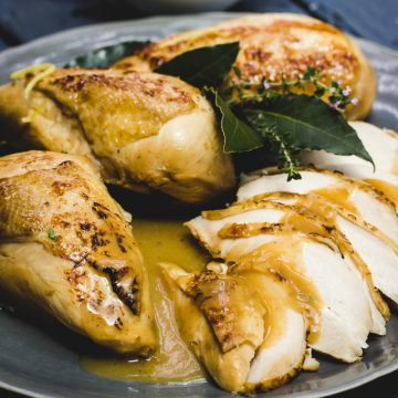 Poached Chicken or Turkey Breasts