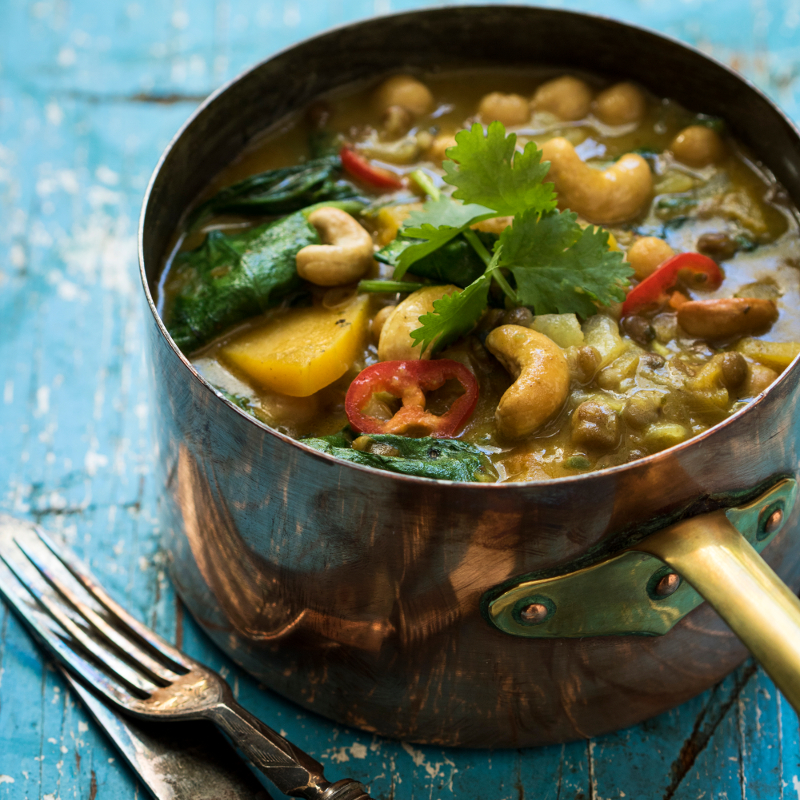 Vegetable Curry with Cashew Nuts