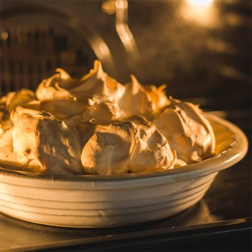 Rice Pudding with Meringue Topping