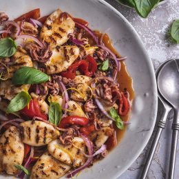 Grilled Calamari with Char-grilled Peppers