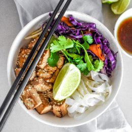 Honey and Soy Tofu Noodle Bowl