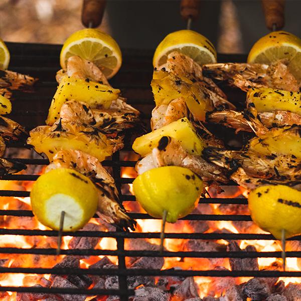 Prawn and Pineapple Kebabs