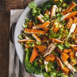 Sweet Potato and Snoek Salad