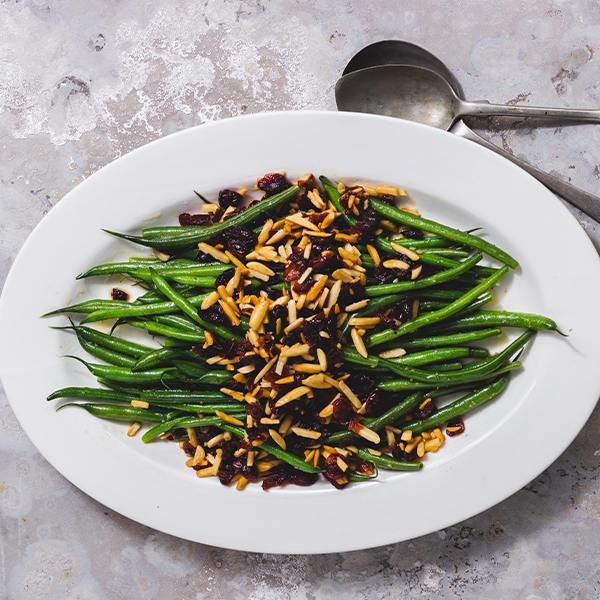 Green Beans with Cranberries and Almonds