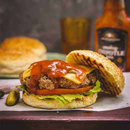 Homestyle Beef Burgers with Chipotle Sauce