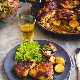 Chicken Thighs with Baby Potatoes