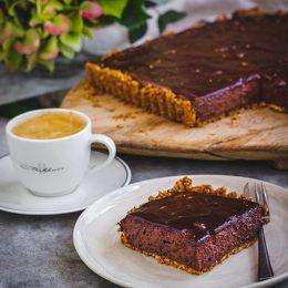Chocolate Tart with Orange Ganache and a Nutty Crust