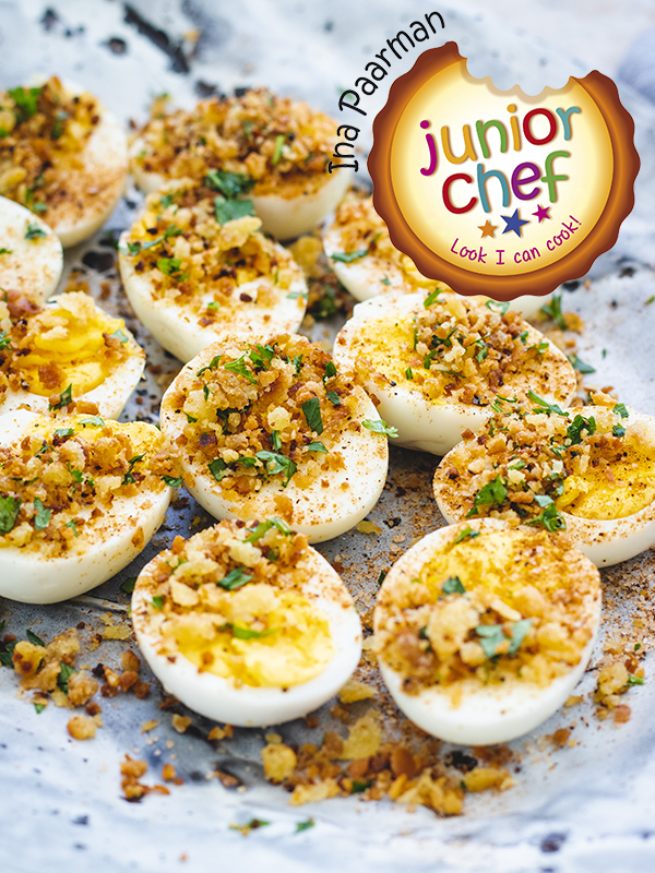 Hardboiled Eggs with Breadcrumb Topping