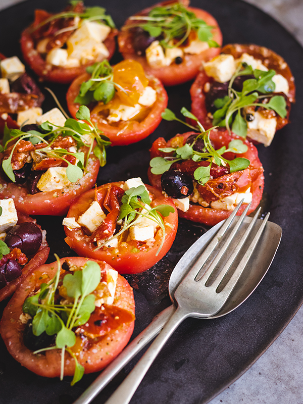 Tomato and Pepper Salad Cups