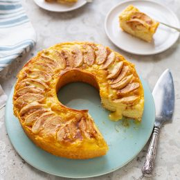 Apple Cake with Custard
