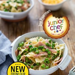 Bow-tie Pasta with Ham and Peas