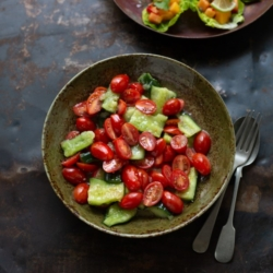 Crushed Cucumber and Baby Tomato Sambal