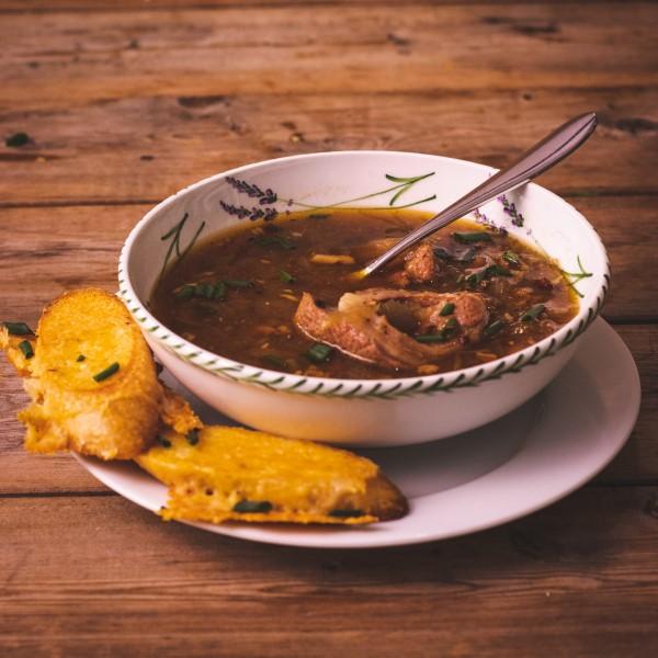 Meaty Onion Soup
