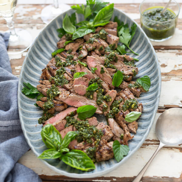 Char-grilled Steak with Salsa Verde