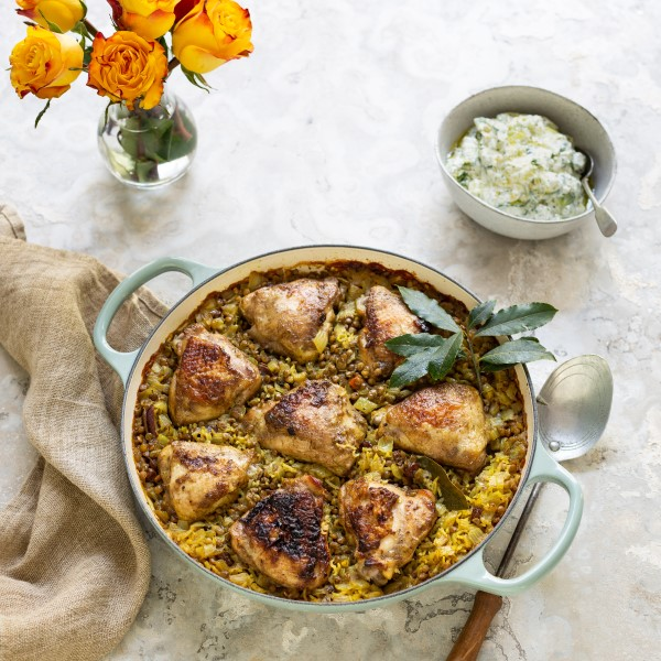 Chicken with Lentil Rice