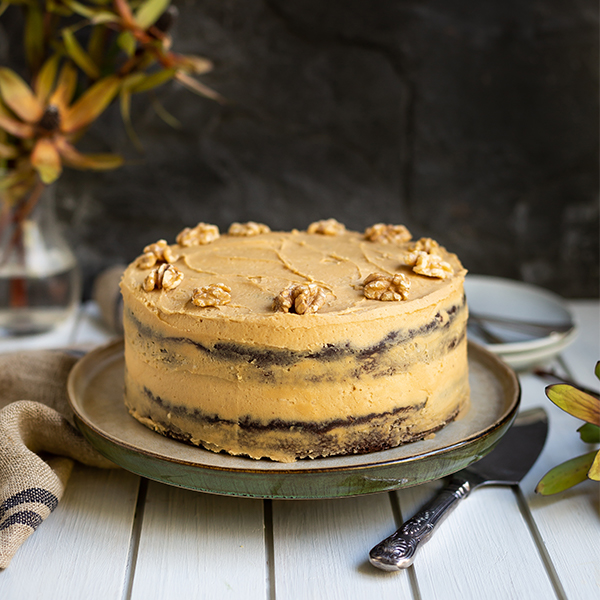 Choc Coffee Cake with Walnuts