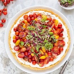 Fresh Cheese and Tomato Tart