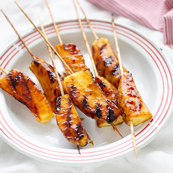 Grilled Pineapple Skewers with Chipotle Glaze