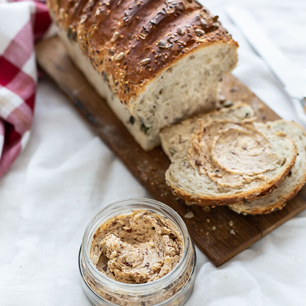 Olive Butter on Seed Bread