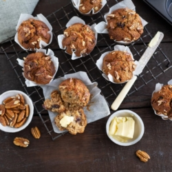 Whole-wheat Date and Nut Muffins