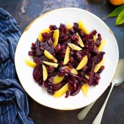 Beetroot Salad with Orange and Cranberries